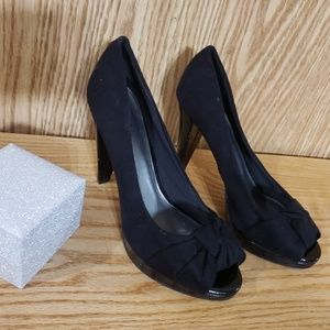 """Fioni """"Bow"""" Suede Heels"""